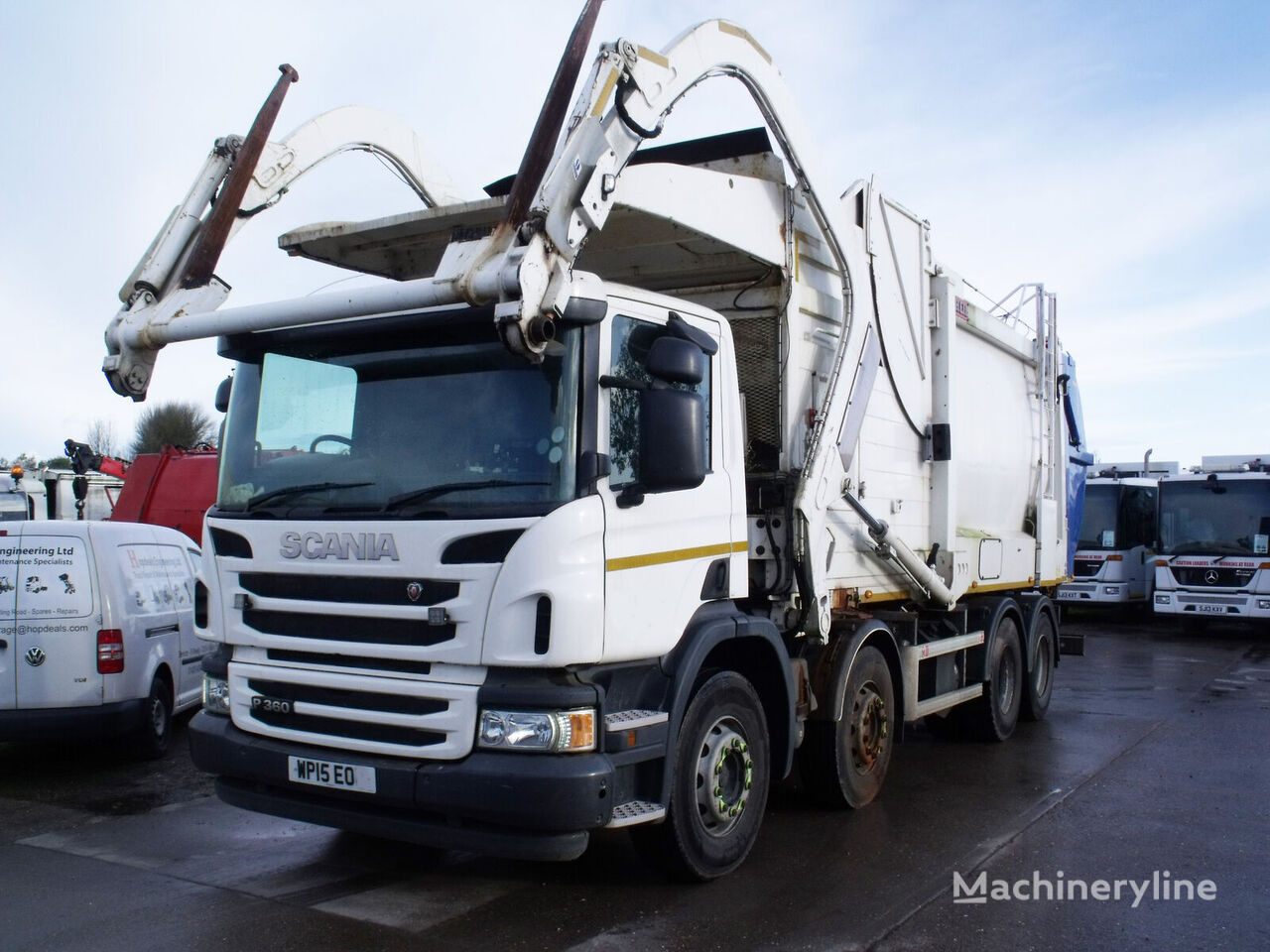 SCANIA P360 garbage truck